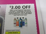 15 Coupons $3/2 Herbal Essences Bio Renew Shampoo Conditioner or Styling 9/8/2018