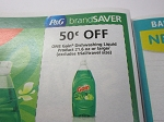 15 Coupons $.50/1 Gain Dishwashing Liquid 21.6oz+ 9/8/2018
