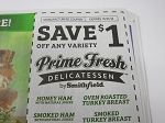 15 Coupons $1/1 Prime Fresh Delicatessen by Smithfield 10/31/2018