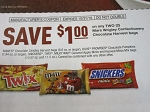 15 Coupons $1/2 M&M's Snickers Dove Twix Harvest Bags 10/31/2018 DND