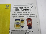 15 Coupons Free Hellmann's Real Ketchup WYB 1 Hellmann's Mayonnaise 24oz Jar or Squeeze 11.5oz 9/23/2018