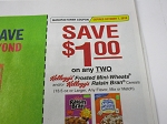 15 Coupons $1/2 Kellogg's Frosted Mini Wheats or Raisin Bran Cereals 10/7/2018