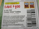 15 Coupons $1/2 Famous Amous Cookies 10/7/2018