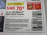 15 Coupons $.75/2 Cheeze it Baked Snack Crackers 10/7/2018