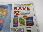 15 Coupons $2/2 Planters Peanuts 16oz, Nutrition 5.5oz or Crunches 7oz 10/10/2018