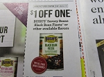 15 Coupons $1/1 Bush's Savory Beans Black Bean Fiesta or other avaiable Flavors 9/23/2018