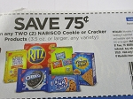 15 Coupons $.75/2 Nabisco Cookie or Cracker 9/22/2018