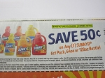 15 Coupons $.50/1 Sunny D 6pk or 60oz or 128oz 10/7/2018