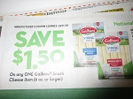 15 Coupons $1.50/1 Galbani Snack Cheese 6oz+ 10/31/2018
