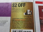 15 Coupons $2/1 Loreal Paris Cosmetic Face 10/6/2018