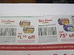 15 Coupons $1.50/1 Bob Evans Family Classics + $.75/2 Refrigerated Side Dishes 11/11/2018