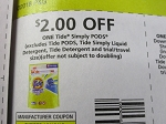 15 Coupons $2/1 Tide Simply Pods 10/13/2018