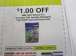 15 Coupons $1/1 Tide Rescue 9ct 10/6/2018