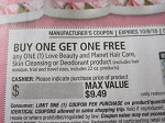15 Coupons Buy 1 Get 1 Free Love Beauty and Planet Hair Care Skin Cleansing or Deodorant DND 10/6/2018