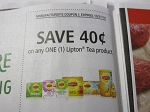 15 Coupons $.40/1 Lipton Tea Product 10/21/2018