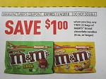 15 Coupons $1/2 bags M&M's 8oz+ DND 11/4/2018