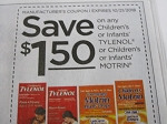 15 Coupons $1.50/1 Children's or Infants Tylenol or Motrin 10/21/2018