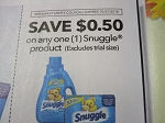 15 Coupons $.50/1 Snuggle 10/27/2018