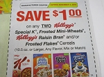 15 Coupons $1/2 Kellogg's Special K Frosted Mini Wheats Raisin Bran or Frosted Flakes Cereal 11/4/2018