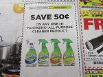 15 Coupons $.50/1 Fantastic All Purpose Cleaner 10/20/2018