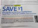 15 Coupons $1/2 Clorox, Liquid Plumr or Pine Sol Products 10/9/2018