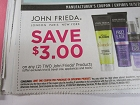 15 Coupons $3/2 John Frieda Products 11/3/2018
