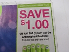 15 Coupons $1/1 Ban Roll on Antiperspirant Deodorant 11/3/2018