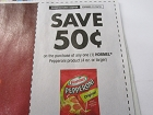 15 Coupons $.50/1 Hormel Pepperoni 4oz+ 11/18/2018