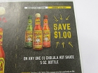 15 Coupons $1/1 Cholula Hot Sauce 5oz Bottle 1/31/2019