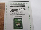 15 Coupons $2/1 Whole Earth Sweetener Co 11/18/2018