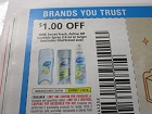 15 Coupons $1/1 Secret Fresh Active or Invisible Spray 2.6oz 11/10/2018