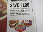 15 Coupons $1/2 Hormel Compleats  12/31/2018