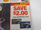 15 Coupons $2/1 Advil PM 40ct 11/11/2018