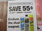 15 Coupons $.55/1 Endust 12/16/2018
