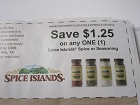 15 Coupons $1.25/1 Spice Islands Spice or Seasoning 1/31/2019
