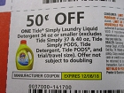 15 Coupons $.50/1 Tidy Simply Laundry Liquid Detergent 34oz or smaller 12/8/2018