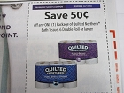 15 Coupons $.50/1 Quilted Northern Bath Tissue 6 Double Roll 12/11/2018