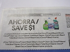 15 Coupons $1/2 Clorox Liquid Bleach 55oz, Clean up, Toilet Bowl Cleaner 12/11/2018