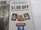 15 Coupons $1/1 Pre packaged Finlandia Product 1/31/2019