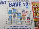 15 Coupons $2/1 Zim's Max Pain Relief 1/20/2018