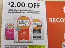 15 Coupons $2/1 Align Probiotic Supplement 12/22/2018