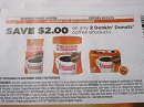 15 Coupons $2/2 Dunkin Donuts Coffee Products 2/15/2019
