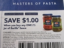 15 Coupons $1/1 Barilla Sauce 2/3/2019