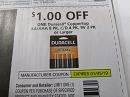 15 Coupons $1/1 Duracell Coppertop Batteries 1/5/2019