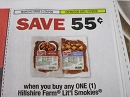 15 Coupons $.55/1 Hillshire Farm Lit'l Smokies 1/5/2019