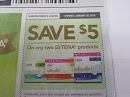 15 Coupons $5/2 Tena Product 1/20/2019