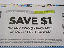 15 Coupons $1/2 Dole Fruit Bowls 3/23/2019