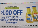 15 Coupons $1/2 Trop50 Orange Juice Beverages 3/10/2019