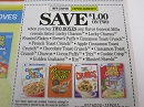 15 Coupons $1/2 General Mills Cereal Lucky Charms Cinnamon Toast Crunch 3/9/2019