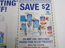 15 Coupons $2/1 Zim's Max Pain Relief 5/18/2019